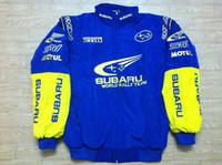 araba düşüşü toptan satış-Toptan Fall-F1 Yol Yarışı Pamuk Ceketler GSN NASCAR SUBARU için Motosiklet Yarış Ceket Araba Takımı dünya FIA moto yarış erkek ceketler