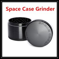 Wholesale Aluminium Alloy Material - New Design Space Case Grinder 63mm Herb Grinder 4 Piece Layer Parts with Triangle Scraper Aluminium Alloy Material Spice Crusher Smoke Tools