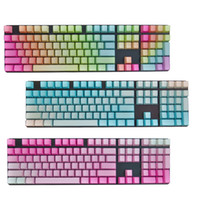 Wholesale Cherry Mx Blue Keyboard - Gradient Rainbow  Blue Pink PBT Keycap set for Cherry MX keyboard
