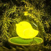 Wholesale Wholesale Birdcage Decor - Wholesale- Lovely LED Birdcage Light USB Rechargeable Birdcage Night Light Touch Sensor Animal Hanglamp Baby Child Nightlights Home Decor