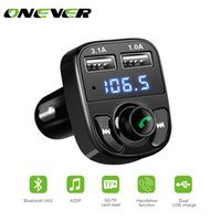 Wholesale Car Transmitter Play Mp3 - FM Transmitter Bluetooth Car Kit MP3 Player LED Dual USB 4.1A Car Charger Voltage Display Micro SD TF Music Playing