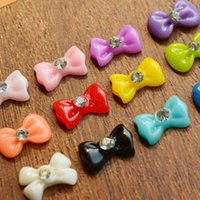 Оптовое - 1x 2015 Мода Новый Nail Art 12 цветов Смола Bow 3D Bow Butterfly Decorations Nail Art Rhinestones Beauty DIY Tools S02