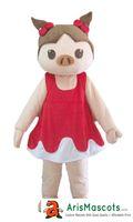 Wholesale Mascotte Pig - Female Pig fur mascot costume outfit dress animal mascots advertising customized mascotte