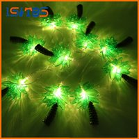 Wholesale Cup Pendant Lights - New Novelty 10 LED Coconut Tree Lighting String Party Lamps Led Christmas Lights Garden Pendant Garland