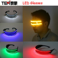 Wholesale Led Glasses For Dancing - Free shipping LED Glasses, Laser Glasses For Nightclub Nerformers Party Dancing Glowing Spiderman Mask Glasses
