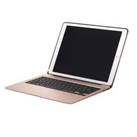Wholesale Aluminum Bluetooth Keyboard Case Cover - For iPad Pro 12.9 inch Luxury Aluminum Wireless Bluetooth Keyboard Cases Cover With 7 Colors Backlight Backlit 5600mah Battery