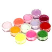Wholesale Mix Colors Acrylic Powder - Wholesale- Paradise 2016 New 12 Mix Colors Acrylic Nail Art Tips UV Gel Powder Dust 3D DIY Decoration Set Free Shipping May12
