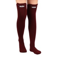 Wholesale Cute Lady Face - Wholesale- 2016 1 Pair Women Lady Girls Favorite Cute 3D Cartoon Animal Cat Bear Face Thigh Stockings Funky Over Knee High Socks