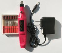 tırnak şekillendirme kitleri toptan satış-1 takım Tırnak Güç Matkap Set Profesyonel Elektrikli Matkap Aracı kiti Manikür Makinesi Pedikür Dosya Jel Lehçe Şekillendirme Aracı Ayak Bakım Ürünü 2.35