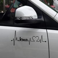Wholesale Plastic Jesus - 17.8*7.7cm Car Truck Sticker Jesus Heartbeat Monitor Car Decal Stickers For Car Tailgate