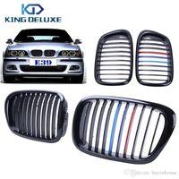 Wholesale bmw series black kidney grills online - 2x Car Front Kidney Grills Grille Lattice For BMW E39 Series i i i i i M5 Gloss Black M Color P216