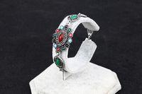 Wholesale Cost Silver Bracelet - The new European retro bracelet antique Thai silver fashion eye diamond bracelet factory direct low-cost mixed batch