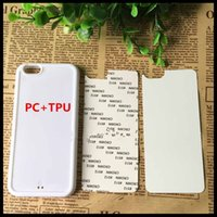 Precio de Iphone tpu aluminio-Para iphone6s más 5S iphone7 7plus 2D DIY Sublimación de calor Prensa PC + TPU Cubierta caso para iphone 4S Samsung S7 borde S6 con placas de aluminio