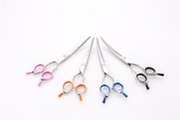 Wholesale case cutting tool - lanyard 6.5 inch Curved Cutting Dog Grooming s  Shear with Case print scissor lanyard