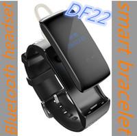 Wholesale Bluetooth Bracelet Headset - Bluetooth Headset Smart Band DF22 Talkband Portable Smart Bracelet Pedometer Activity Fitness Tracker for IOS Android Smartband