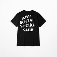 Wholesale Shirt Mens Cotton Polyester - ANTI SOCIAL SOCIAL CLUB tshirts Mens Hip Hop Streetwear t shirt Short Sleeve Cotton Casual KANYE WEST Tees For Men summer clothes