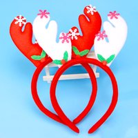 Wholesale Santa Claus Headbands - Christmas Headband Santa Claus Red Hair Hoop XMAS Headdress For Kids And Holiday Party Fashion Clips With Retail Package Drop Shipping