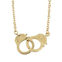 Wholesale Handcuff Collar - Perfeel Hot Fashion Individual Design Punk Style Silver Color Handcuffs Collar Necklace For Women