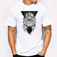 Campeggio Escursionismo T-Shirt Estate maglietta Uomo THE PASSAGE Cartoon anime T-shirt hip hop fitness bianco Manica corta tshirt homme Top Tees