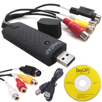 vhs dvd adaptador usb al por mayor-Libere la nave USB 2.0 del usb de la captura video del adaptador Dispositivo S-Vídeo DC60 TV DVD VHS Capa Fácil Tarjeta Audio AV milímetro usb video graber Dispositivo registrador DVR