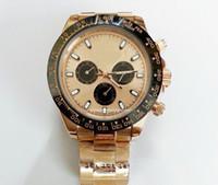 montres de plongée perpétuelles achat en gros de-Luxe rose or en acier inoxydable cadran homme automatique montre mécanique perpétuel en céramique lunette de plongée décontractée hommes antiquaires montres à vendre