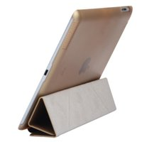 Wholesale luxury slim ipad cover - Wholesale-For Ipad air 2 Top Quality Luxury 3 fold PU Leather stand case coque,for ipad 6 Super slim pu leather protective cover funda