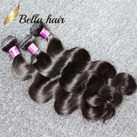 trama del pelo de 12 pulgadas al por mayor-10-24 pulgadas de Color Natural de Alta Calidad Indian Hair Weft 3 Bundles 9A Body Wave Extensiones de cabello humano Envío Gratis