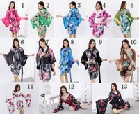 Wholesale anime cosplay gowns - Classical sexy lingerie KTV restaurants Japanese kimono Cosplay party dress gown multicolor SMG89292 one size S-L