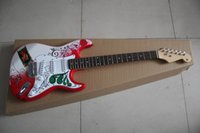 Wholesale Guitar Red Special - HOT wholesale Special Sales Custom Shop Jimi Hendrix stratocaster red applique Maple Fingerboard ST Electric Guitar