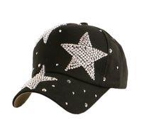 Wholesale Kids Rhinestone Hats - New fashion beauty cute children snapback caps wholesale pretty design rhinestone star child kids boys girs baseball cap hats