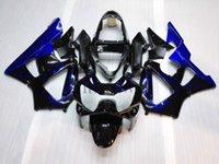 Wholesale Cbr929rr Aftermarket Fairings - ABS Plastic Bodywork For Honda CBR929 RR 2000-2001 CBR 900RR 00 01 blue flame Aftermarket Fairing
