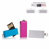 hdd speicher großhandel-Mini-USB-Flash-Laufwerk Flash Memory Stick Heißer Verkauf Laufwerk U-Disk 4 GB 8 GB 16 GB 32 GB 64 GB 128 GB Metallschlüssel Anzug für individuelles Logo