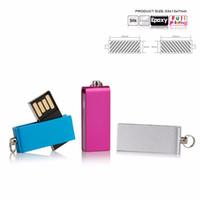 16gb metal flash sürücüler toptan satış-Mini usb flash sürücü Flash Memory Stick Sıcak Satış Sürücü U-Disk 4 GB 8 GB 16 GB 32 GB 64 GB 128 GB Metal Anahtar Takım Özelleştirilmiş Logo için