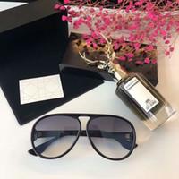 Wholesale Two Color Frame Glasses - New fashion luxury sunglasses for men designer sunglasses for women top quality men designer glasses uv400 Two-color design star temperament
