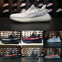 Wholesale Ventilated Running Shoes - 2017 top high Quality Superme Sample west Kanye Boost sply 350 V2 Black White Retro fashion Men Women ventilate sneaker Running Shoes 36-46