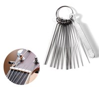 Wholesale Nuts Size - Portable Size DIY Guitar Repair Tools Guitar Nut Slotting File Saw Rods Slot Filing Set Luthier Replacement Accessory 2017 Hot