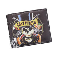 Wholesale photo gift business online - Men and Women New Fashion Guns N Roses Skull D Printed Personalized Leisure Wallet Gift