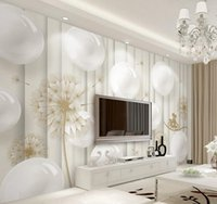 sphere house - 3d murals wallpaper for living room Contemporary and contracted d sphere dandelion bike TV setting wall
