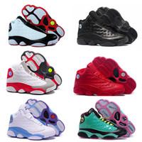 Wholesale Men S Air Shoes Basketball - 2017 cheap air Retro 13 CP3 Basketball Men Shoes Retro 13s Black Orion Blue Sunstone Athletics Sneakers Sports shoe Retro 13's Trainers