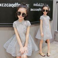 Wholesale Ethnic Skirt Girl - 2017 Hot Summer The New Ethnic Style Skirt Cute Sweet Girl Short Sleeve Skirt Girls Princess Dress