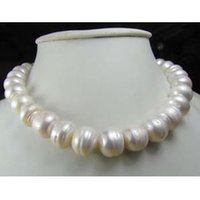 """Wholesale 16mm South Sea Pearl Pendant - CHARMING 14-16MM AAA NATURAL SOUTH SEA WHITE BAROQUE PEARL NECKLACE 14K 18"""""""