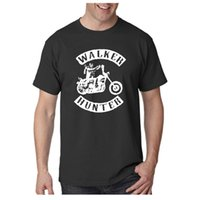 Wholesale White Zombie Shirt - Summer Graphic Tees The Walking Dead T Shirts Men Funny Casual T-shirt Daryl Dixon Negan Man Zombie Solid Custom Summer Teenager Plus Size