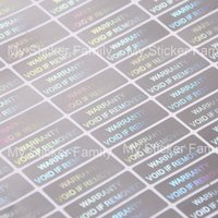 Wholesale Decorative Wallpaper Meters - ome Decor Decorative Films WARRANTY VOID IF REMOVED 10x30mm security Hologram for one-time use Silver color Holographic sticker for prod...