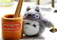 Wholesale Doll Rack - Wholesale- Kawaii SIZE 18*11CM TOTORO Stuffed TOY DOLL , Coin Sundries Holder Pouch Case RACK DOLL & Coin Pen Pencil Holder Case