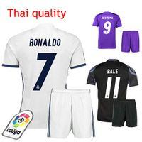 Wholesale Summer Flash - 2016 2017 Free shipping camiseta Reals top thai 16 17 survetement maillot de men shirt kit
