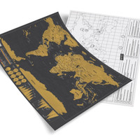 Wholesale Black Famous People - new hot In Stock Deluxe Scratch Map Deluxe Scratch World Map 82.5 x 59.5cm R h48