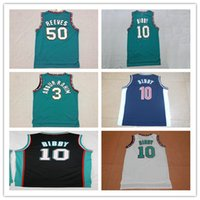 Wholesale Men Mike Bibby Jerseys Vancouver Bryant Reeves Shareef Abdur Rahim Stitched Mesh Retro Basketball Jerseys Color Team Green Mix Order