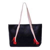 Wholesale Wholesale Unique Heels - Wholesale- Unique High-heel Pattern Women Leather Handbags Female Shoulder Bags Fashion Girls Shopping Tote Bag Lady Travel Handbags 1STL