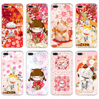 Wholesale Iphone5 Fashion Cases - Fashion Fortune Cat Soft TPU phone case cover For iPhone5 5s se 6 6S 6plus 6Splus 7 7plus cases