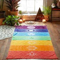 Bohemia Wall Hanging India Mandala Coperta 7 Chakra Colorato Arazzo Rainbow Stripes Estate Estate Boho Beach Towel Yoga Mat